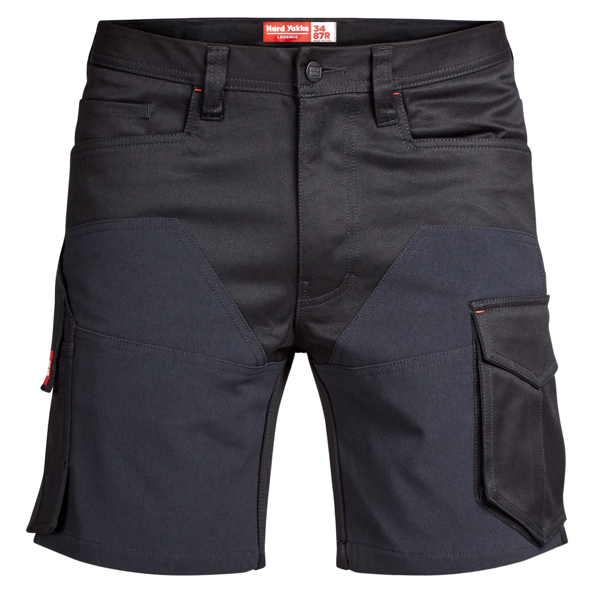 Hard Yakka Legends 3D Stretch Cargo Short - Black/Black Workwear Isbister & Co