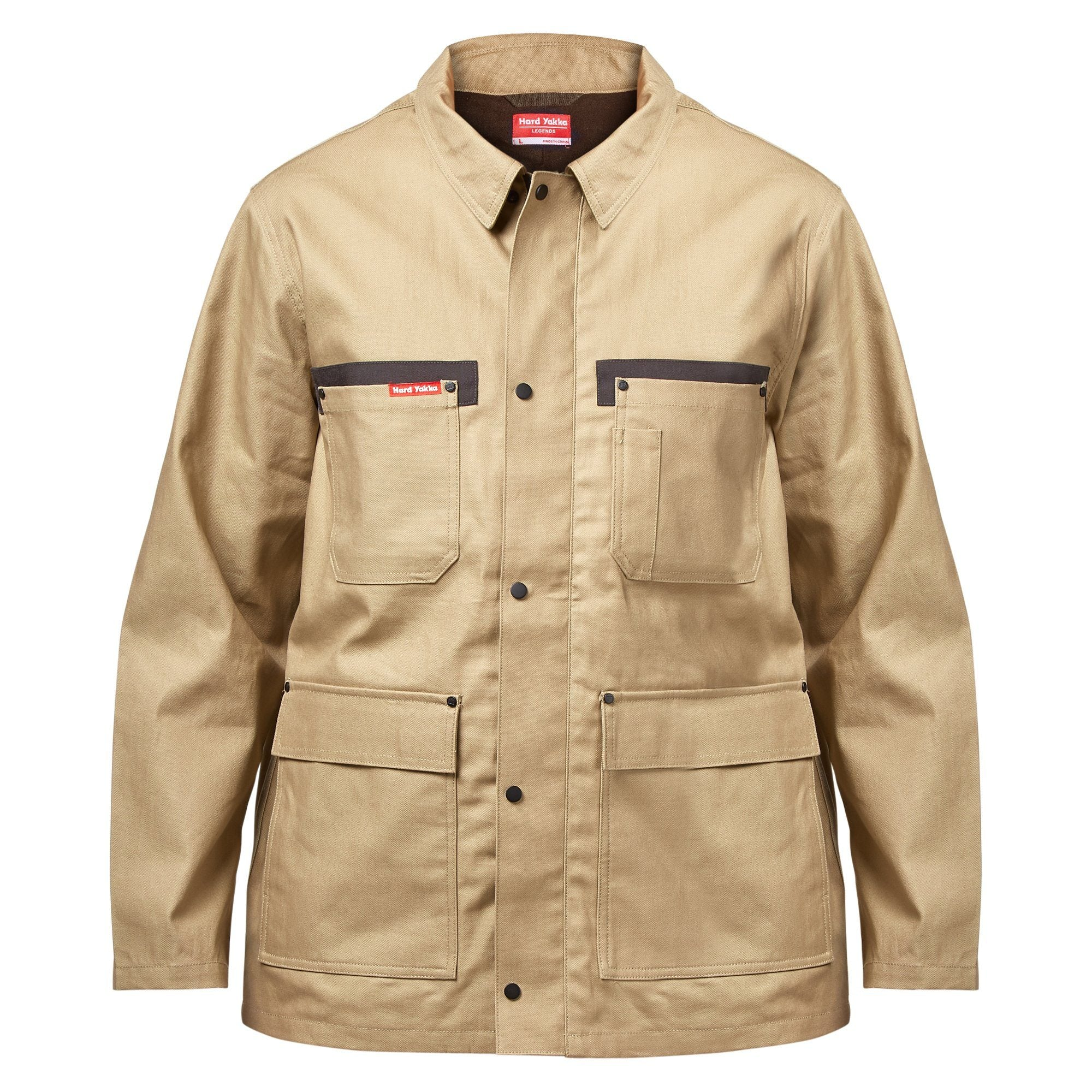 Hard Yakka Legends Jacket - Khaki Workwear Isbister & Co Wholesale