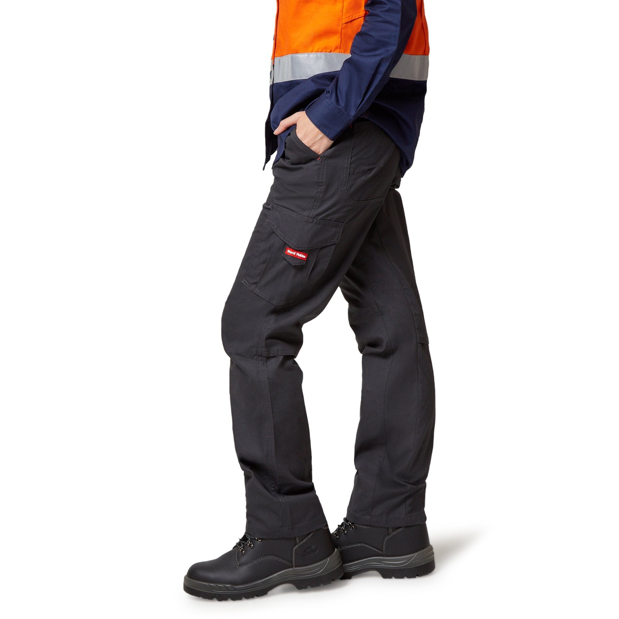 Hard Yakka Womens Vented Cargo Pants - Charcoal Workwear Hard Yakka