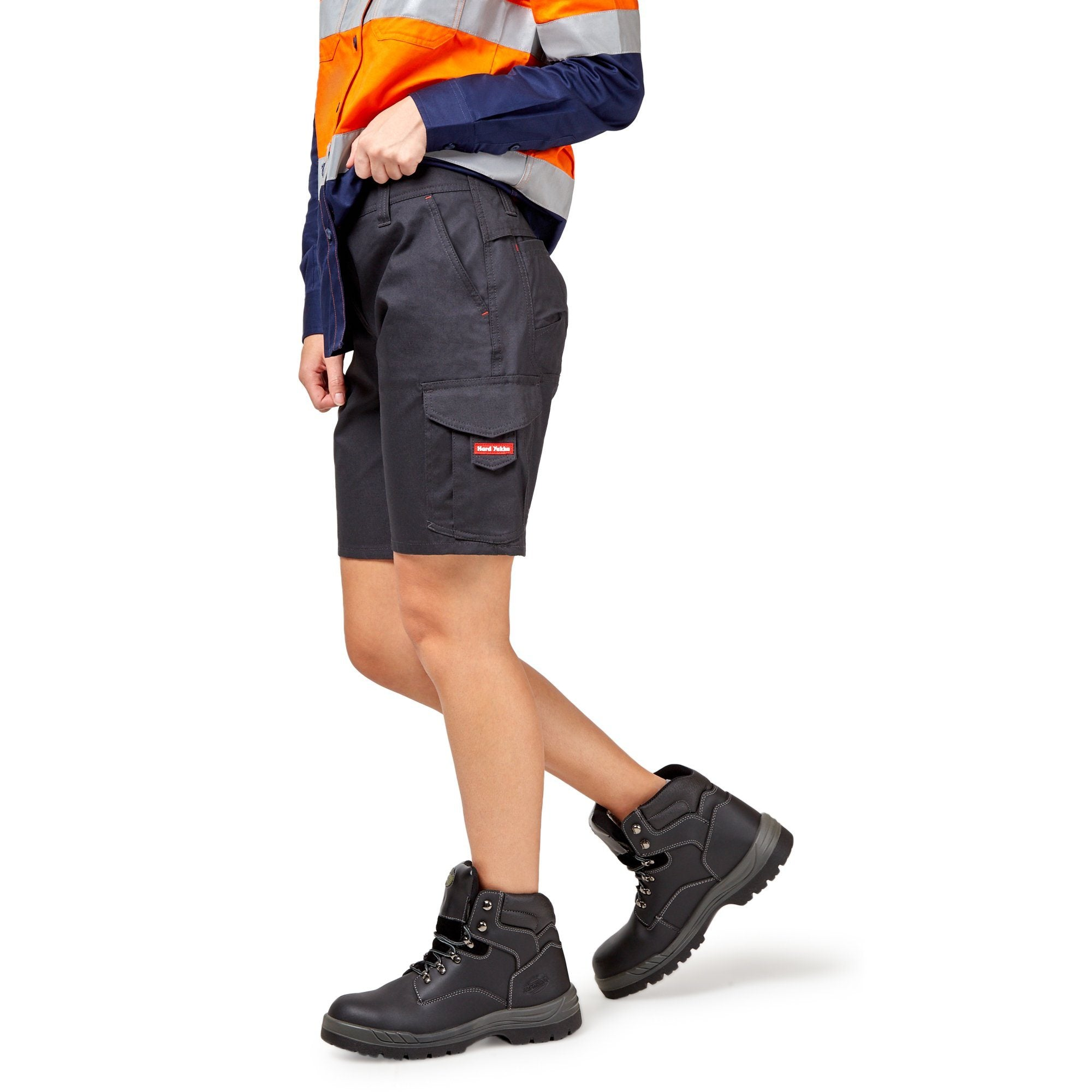 Hard Yakka Vented Cargo Shorts - Charcoal Workwear Hard Yakka