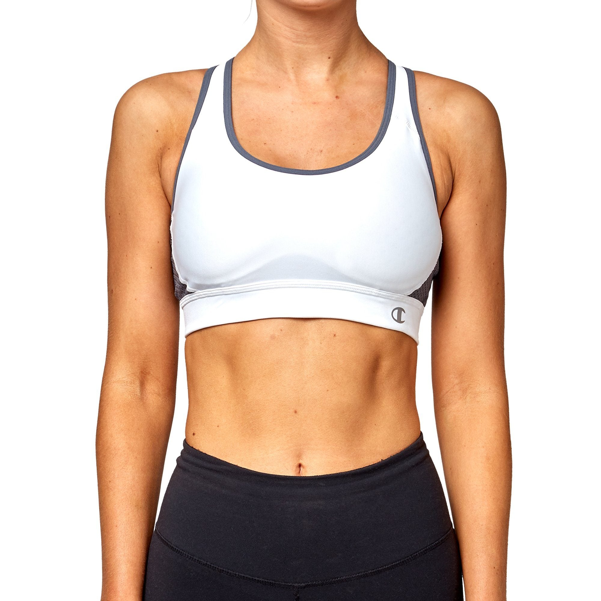 Champion The Great Divide Sports Bra - White/Medium Grey Apparel Champion