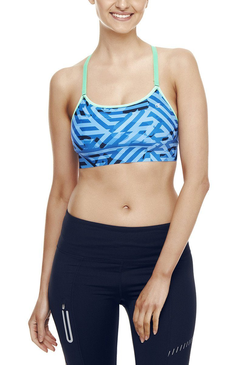 Champion Bras Absolute Cami - Maze Camo/Neon Green Light Bras Champion