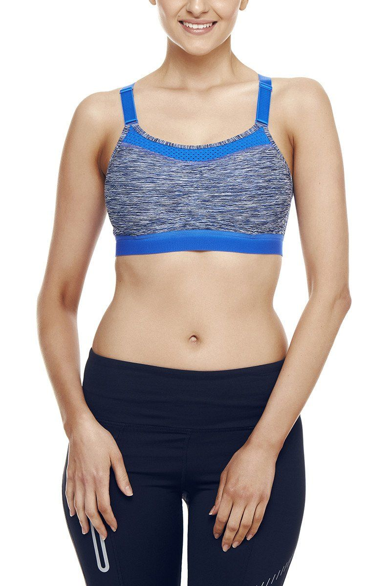 Champion The Show-Off Bra - Flight Blue Space Dye SP-ApparelSportsBras Champion
