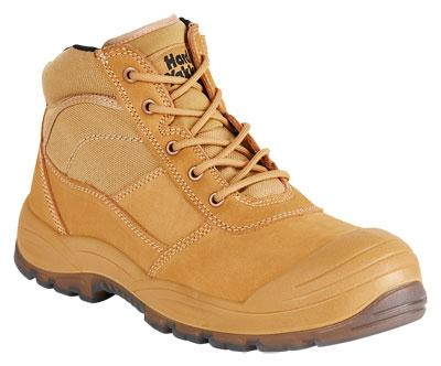 HARD YAKKA Y60120 UTILITY SIDE ZIP WORK BOOT - WHEAT Workwear Hard Yakka