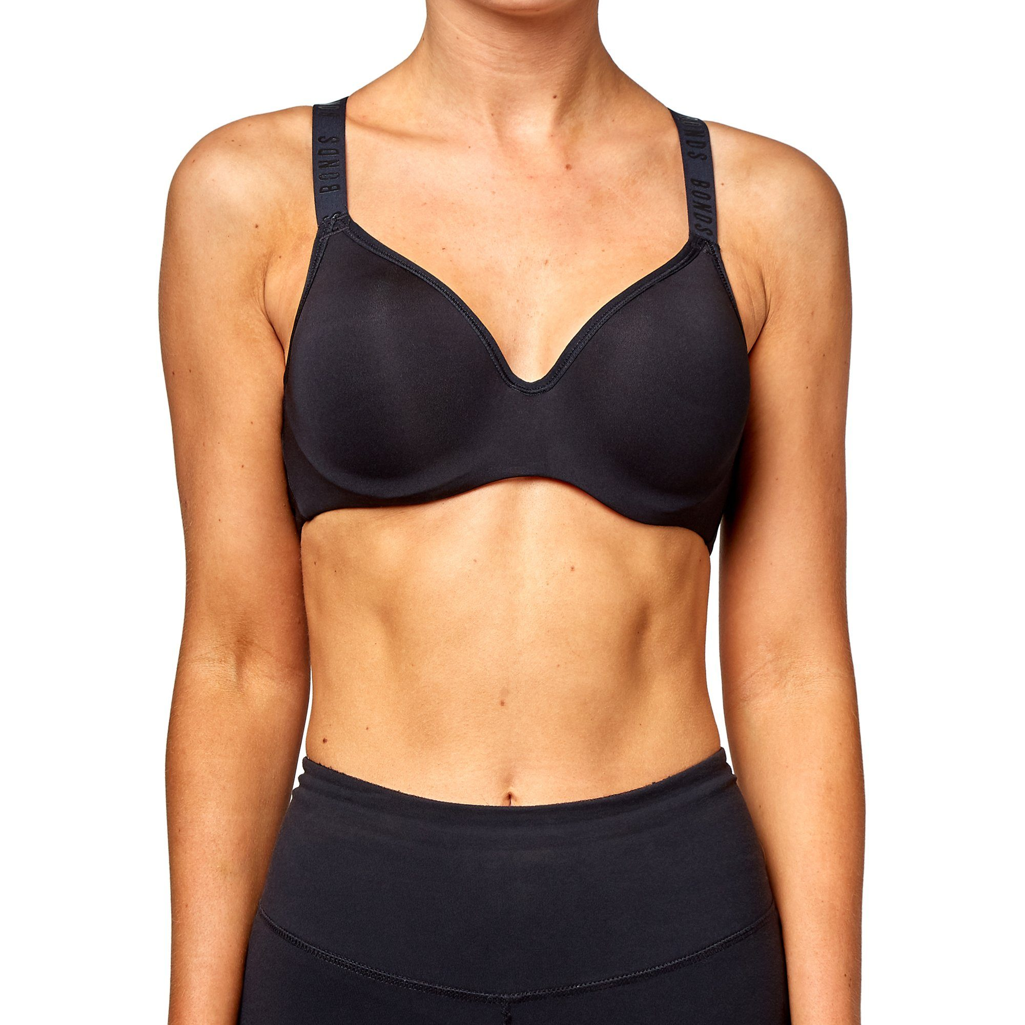 Bonds Women's Sporty Top Bra - Black Onyx Apparel Bonds