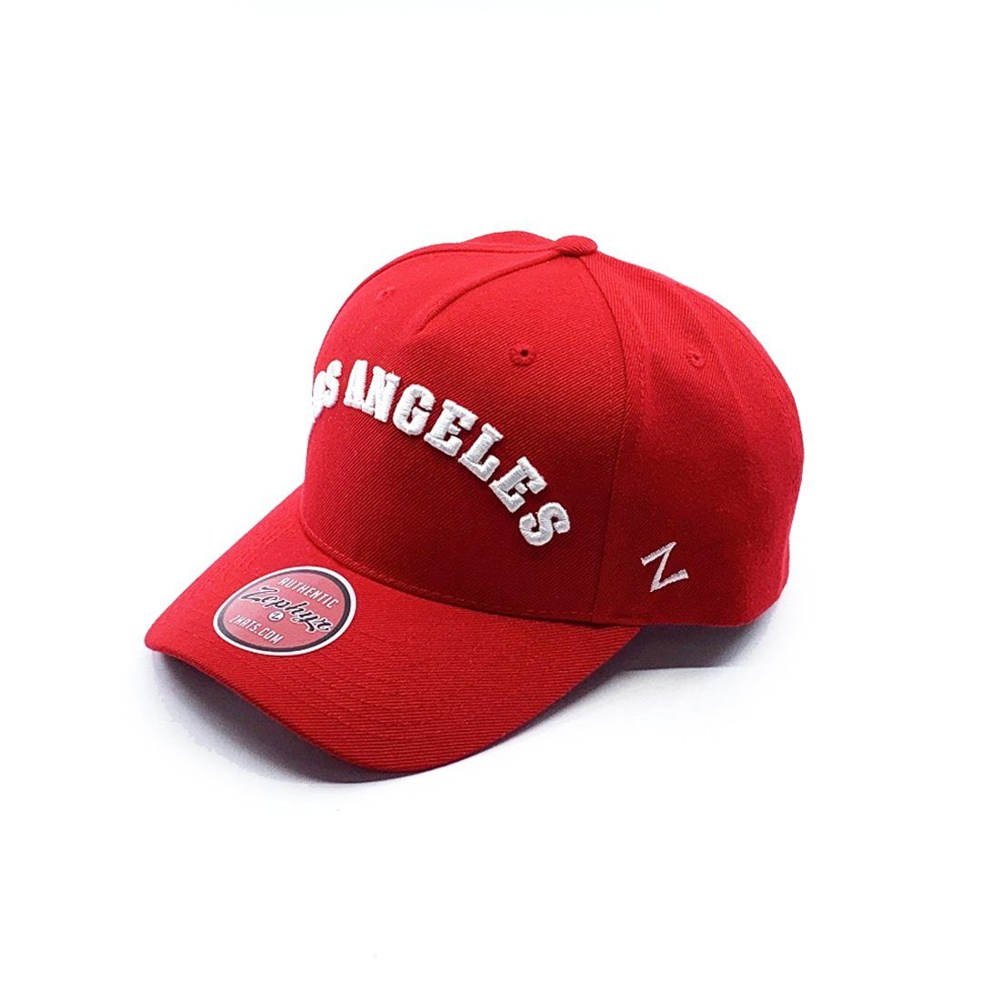 Zephyr Los Angeles 5 Panel Cap - Red - OSFA SP-Headwear-Caps Zephyr