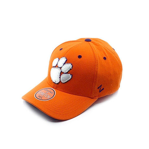 Zephyr Clemson Fitted Cap - Orange - M/L SP-Headwear-Caps Zephyr