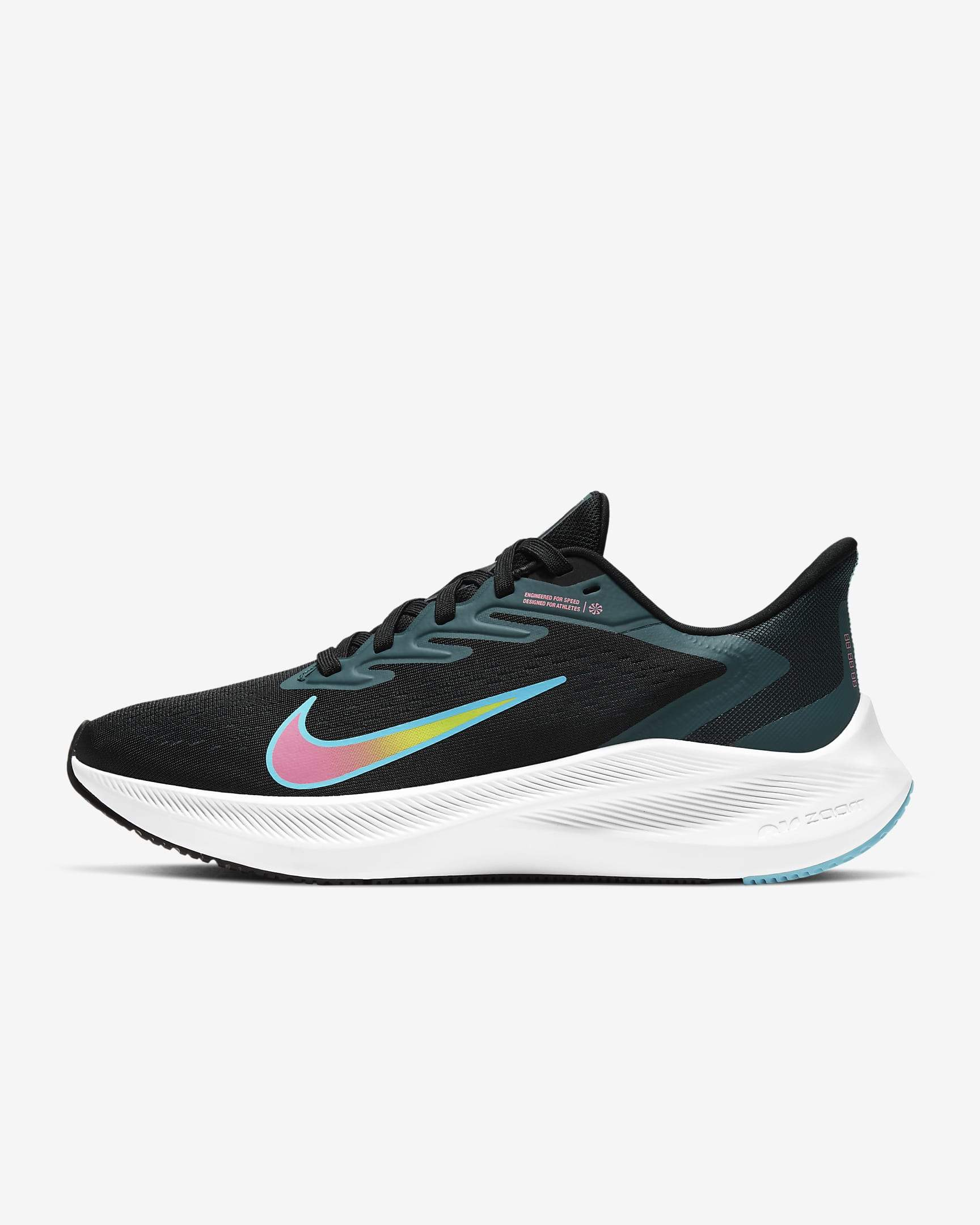 Nike Womens Air Zoom Winflo 7 - Black/Lagoon Pulse-Dark Teal Green SP-Footwear-Womens Nike