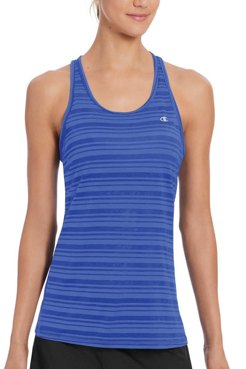 Champion Womens Vapor Select Tank - Blue SP-ApparelTanks-Womens Champion