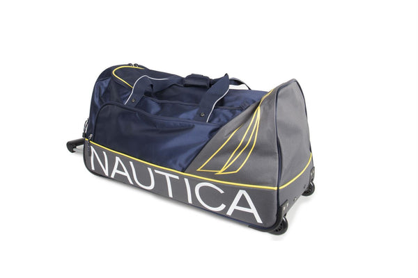 City Coaster - 3 Piece Duffle Set - Navy/Marigold Luggage Nautica