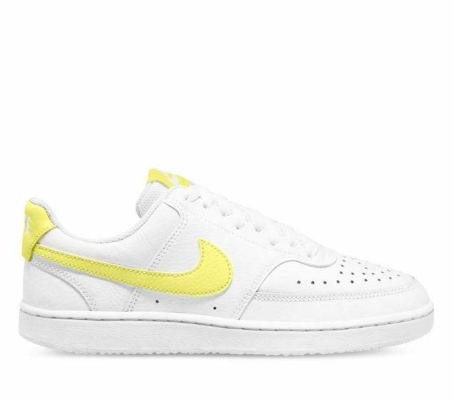 Nike Womens Court Vision Low - White/Light Zitron/Bright Mango SP-Footwear-Womens Nike