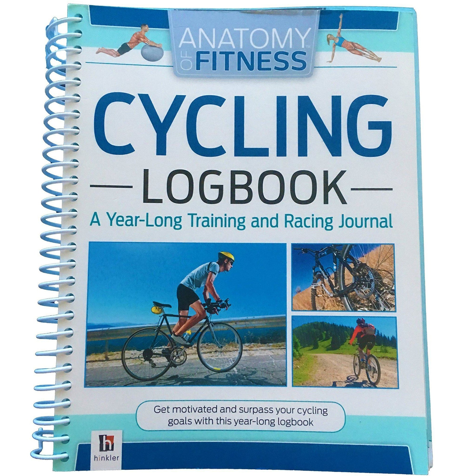 Anatomy of Fitness Cycling Logbook Books Hinkler Books