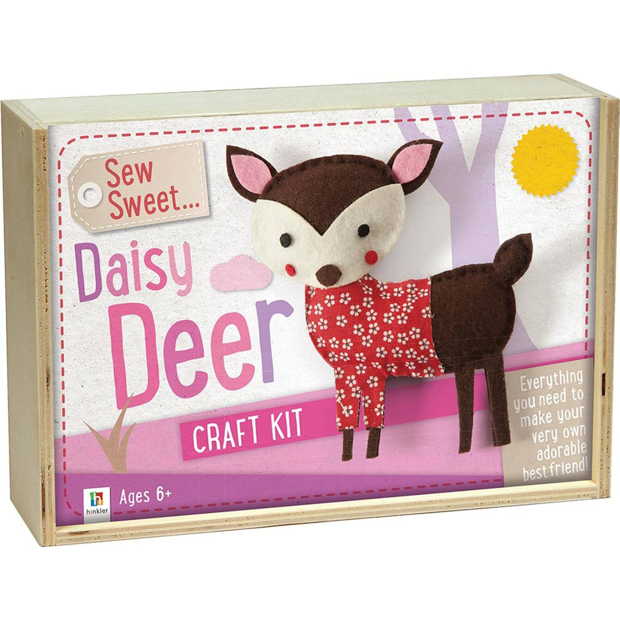 Sew Sweet: Daisy Deer Wooden Box (UK) Books Hinkler Books