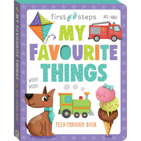 First Steps My Favourite Things Board Book Books Hinkler Books