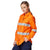 King Gee Workcool 2 Hi-Vis Long Sleeve Reflective Shirt - Orange Workwear King Gee
