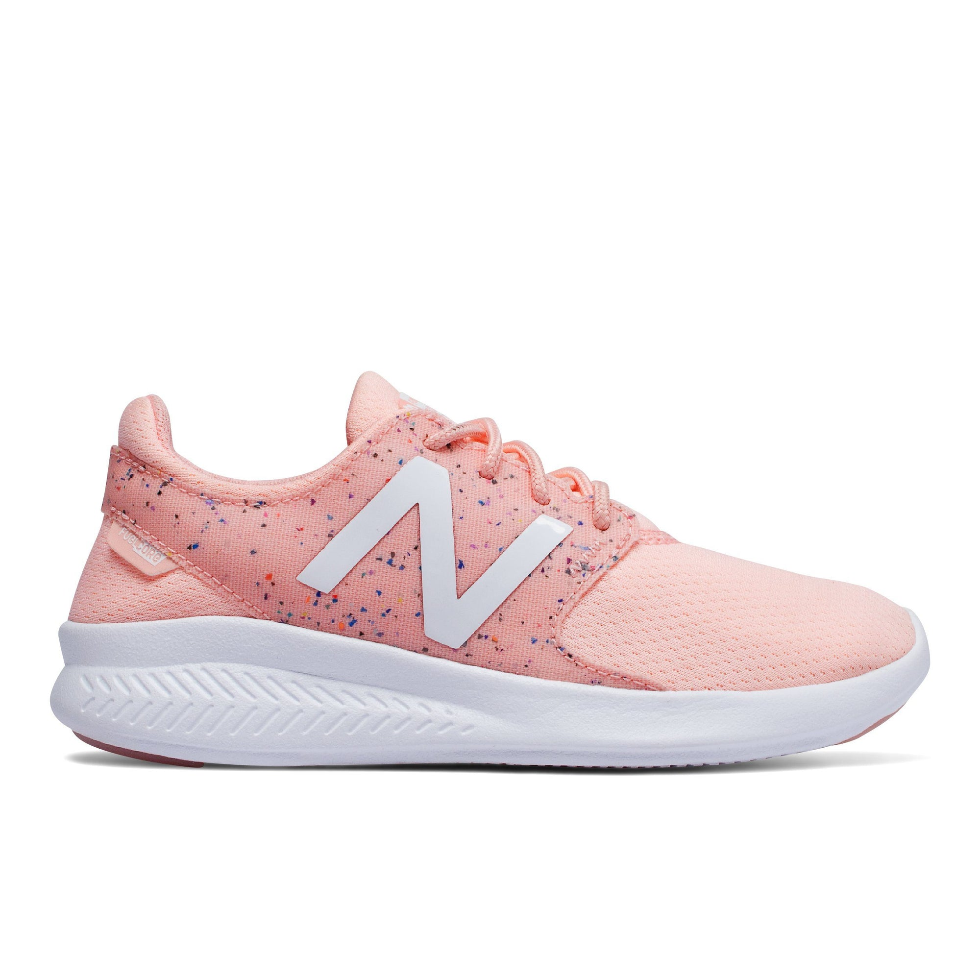 New Balance Kids FuelCore Coast v3 - Pink Multi SP-Footwear-Kids New Balance