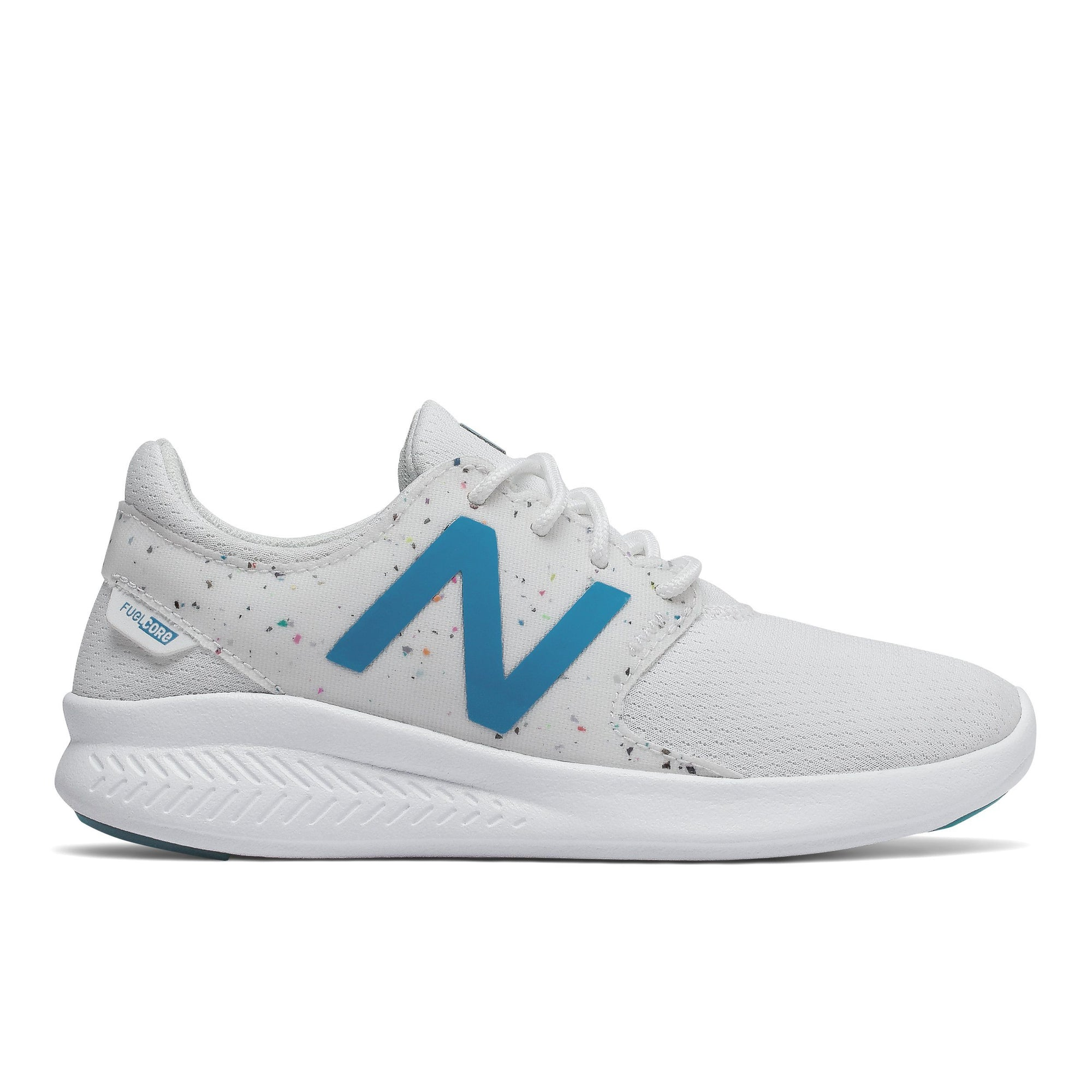 New Balance Kids FuelCore Coast v3 Confetti - White SP-Footwear-Kids New Balance