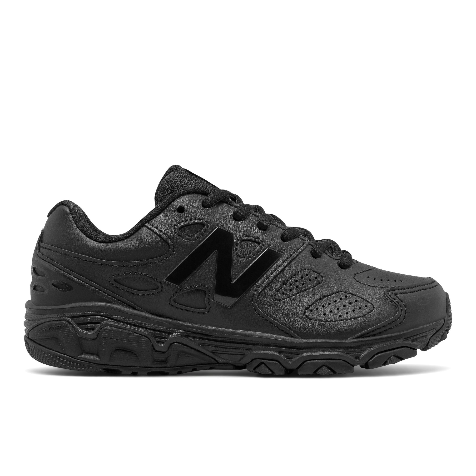 New Balance Kids 680v6 - Triple Black SP-Footwear-Kids New Balance