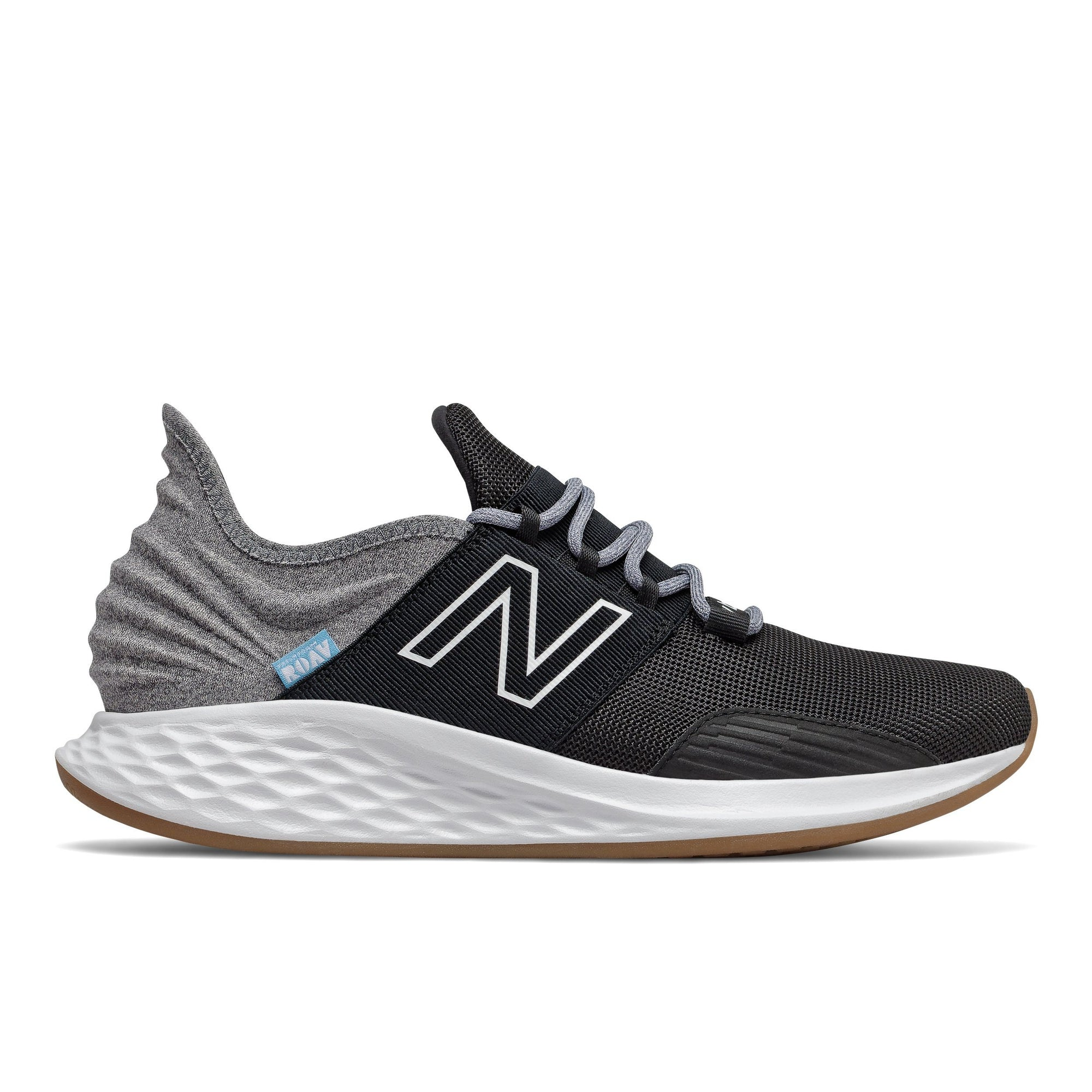 New Balance Mens Fresh Foam Roav Tee Shirt - Black/Grey SP-Footwear-Mens New Balance