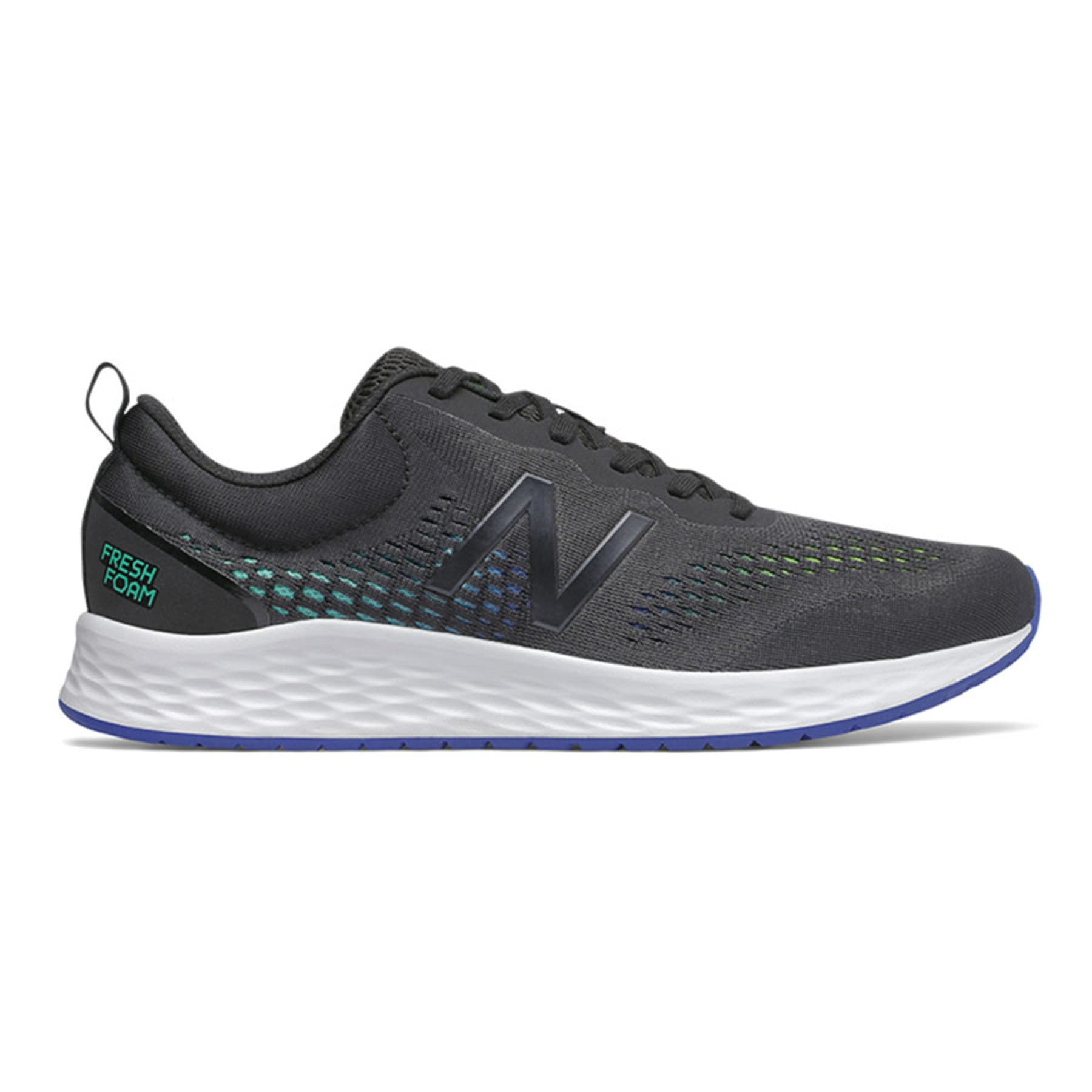 New Balance Mens Fresh Foam Arishi v3 - Black with Silver SP-Footwear-Mens New Balance