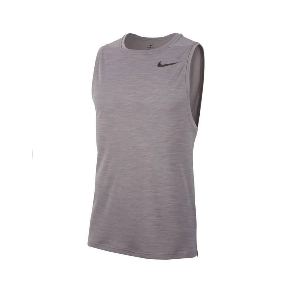 Nike Mens Superset Tank - Gunsmoke/Black SP-ApparelTees-Mens Nike