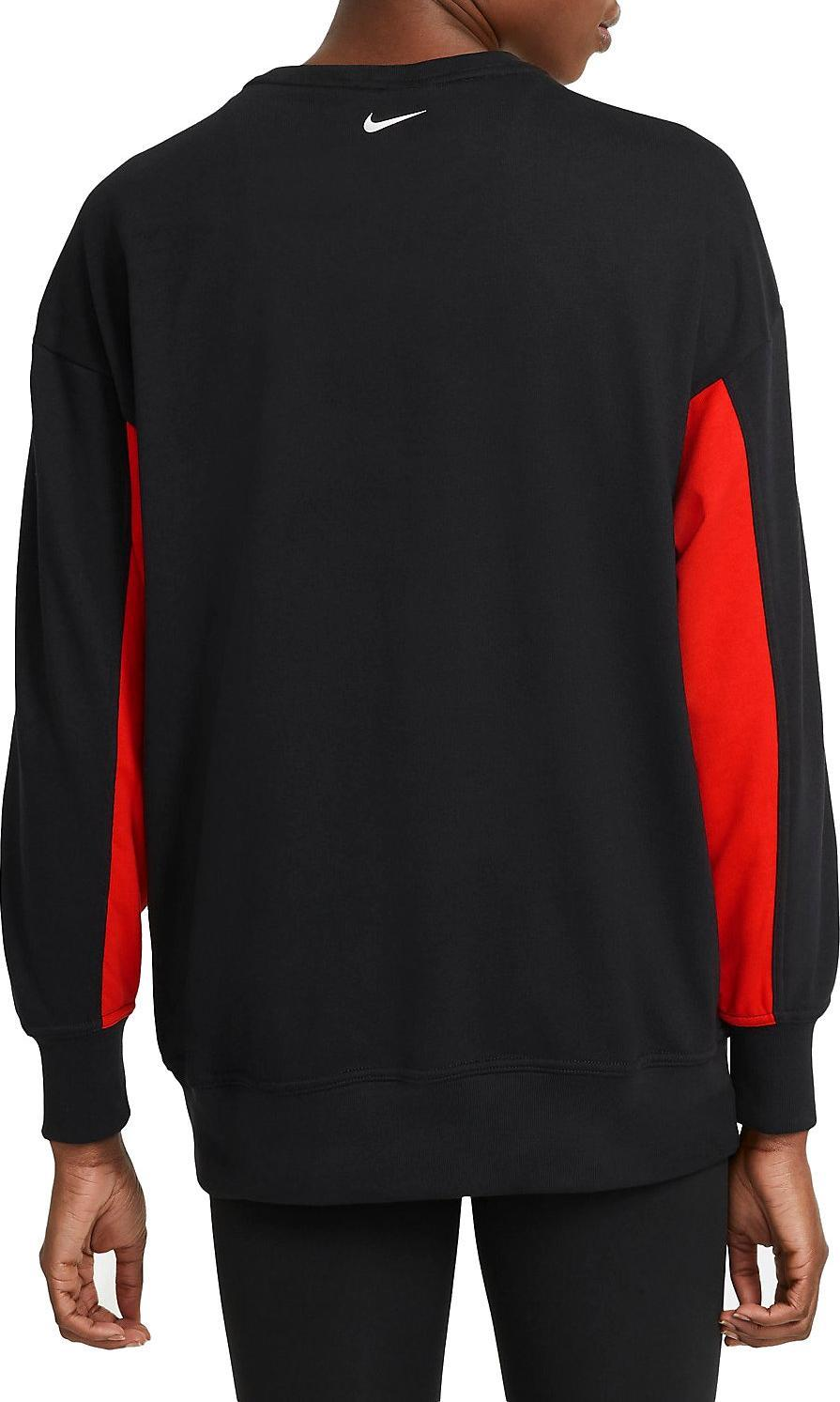 Nike Women's Dri-Fit Get Fit Sweatshirt - Black/Chile Red/White SP-ApparelFleece-Womens Nike