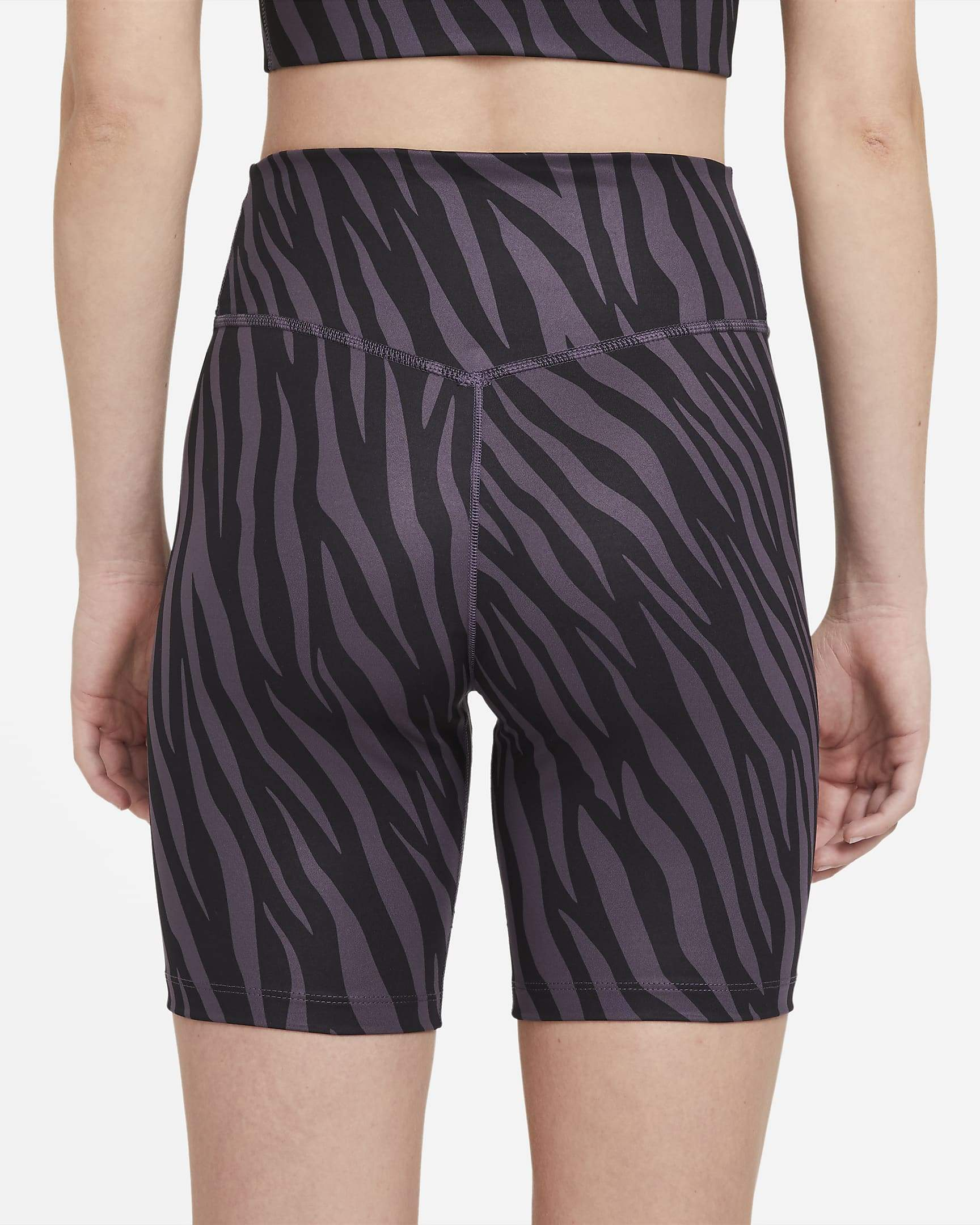 Nike One Women's Bike Shorts - Dark Raisin/White SP-ApparelShorts-Womens Nike