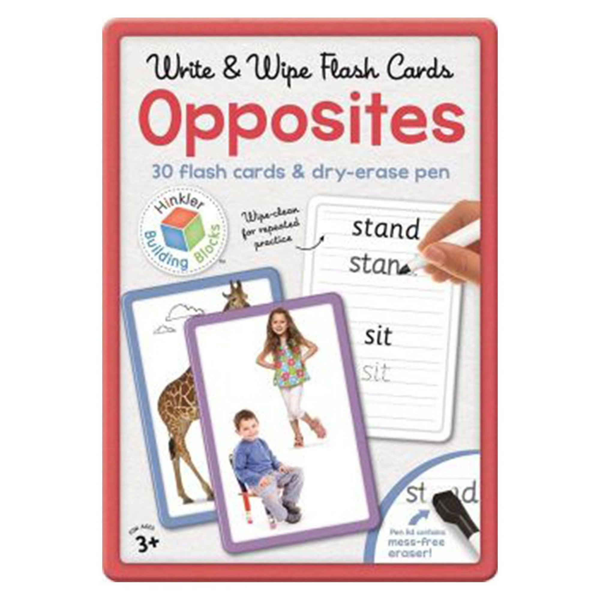 Opposites Building Blocks Flashcards in Large Tin (UK) Books Hinkler Books