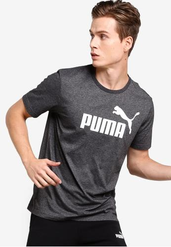 ESS+ Heather Tee Puma Black Heather SP-ApparelTees-Mens Puma