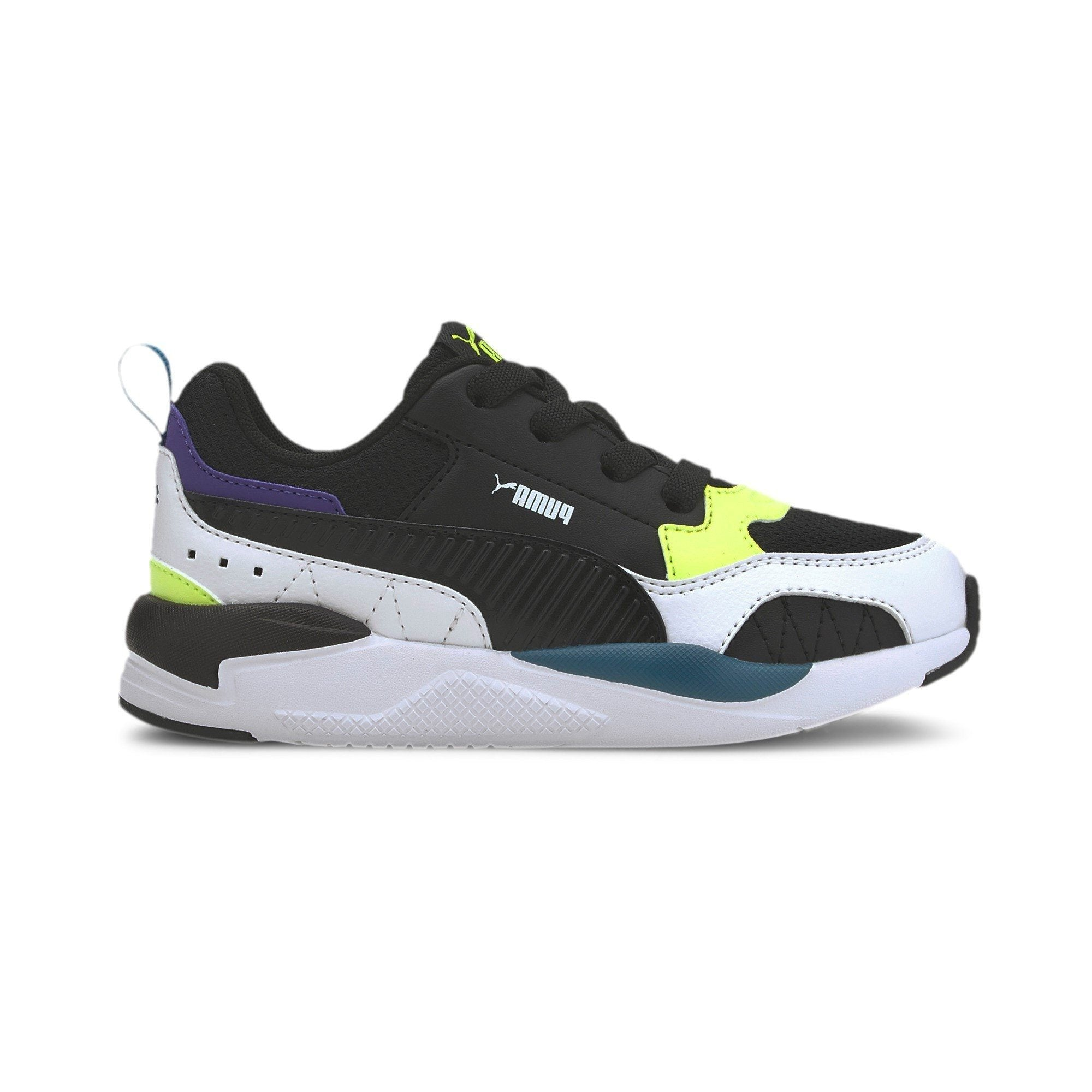 Puma Kids X-Ray 2 Square AC PS - Black/White/Yellow/Blue SP-Footwear-Kids Puma