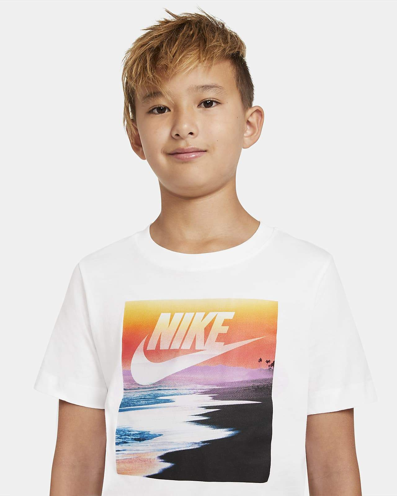 Nike Sportswear Big Kids' (Boys') T-Shirt - White SP-ApparelTees-Kids Nike