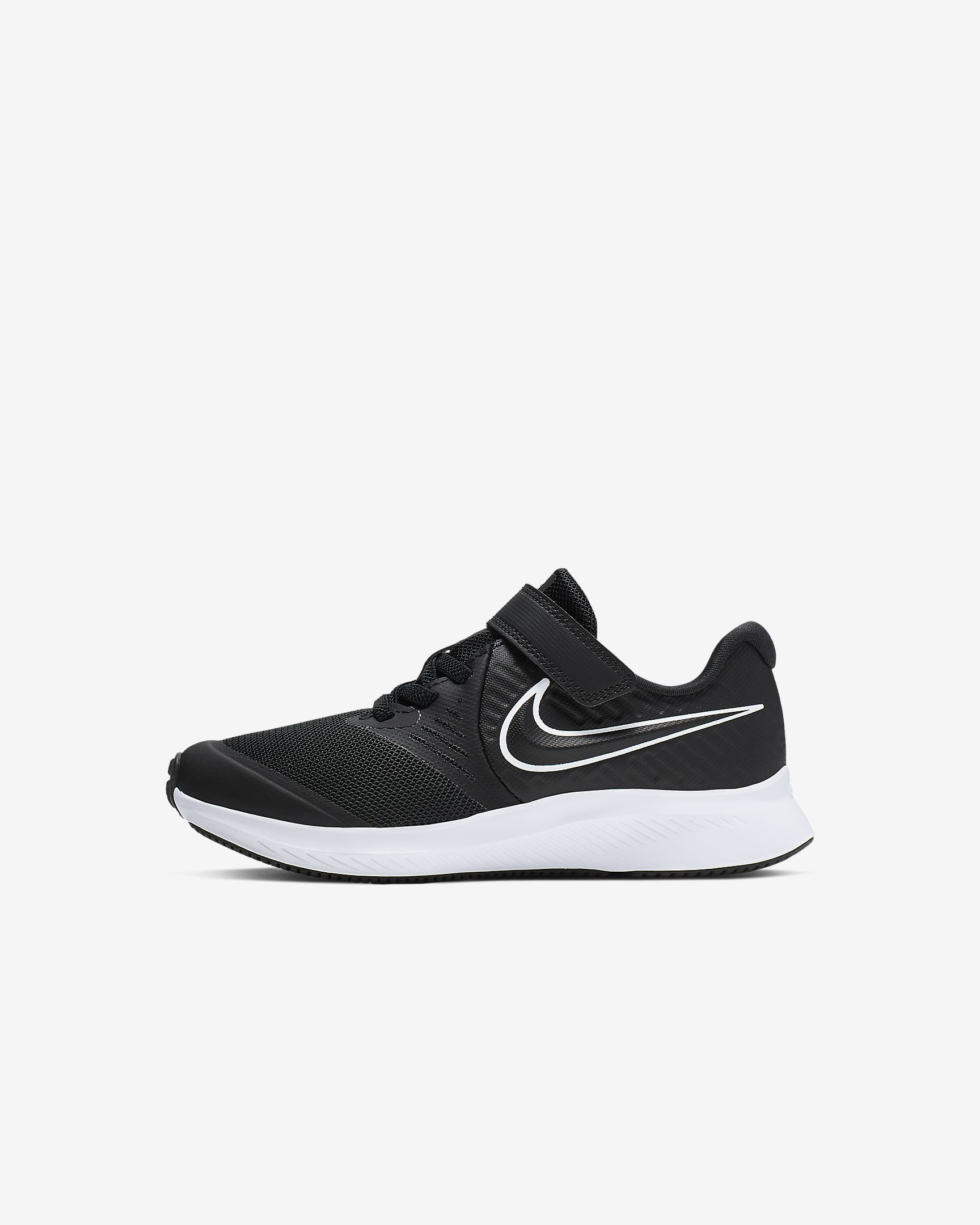 Nike Kids Star Runner 2 Little Kids Shoe - Black/White-Black-Volt SP-Footwear-Kids Nike