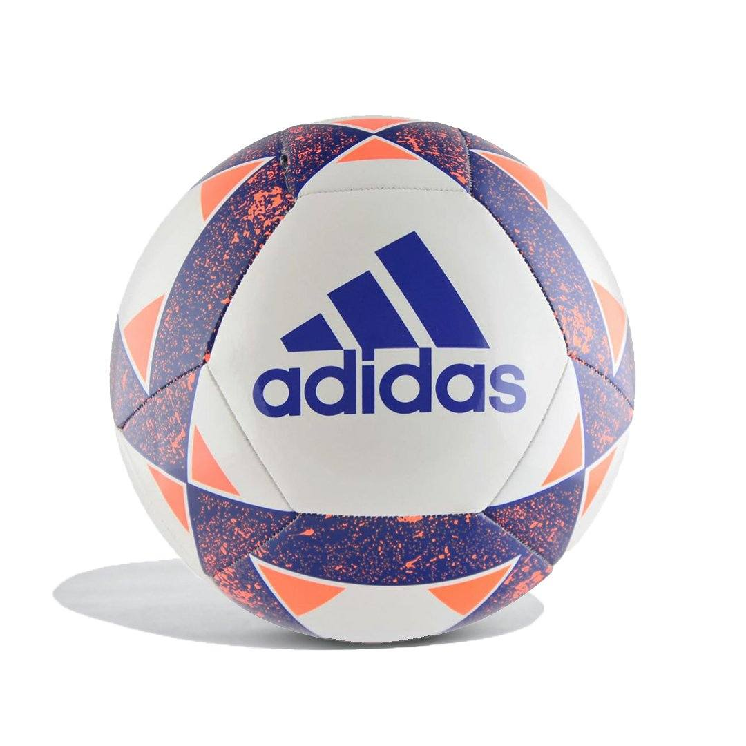 Adidas Starlancer V Soccer Ball (White/Blue/Orange , Size 5) SP-Balls Adidas