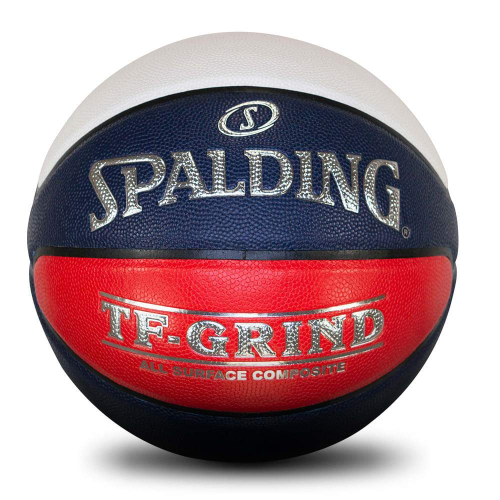 Spalding TF-GRIND - Comp Ball All Surface Basketballs - Red/White/Blue (Size 5) SP-Balls Spalding