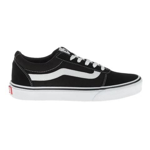 Vans Junior Ward Shoes (Suede/Canvas) - Black/White SP-Footwear-Kids Vans