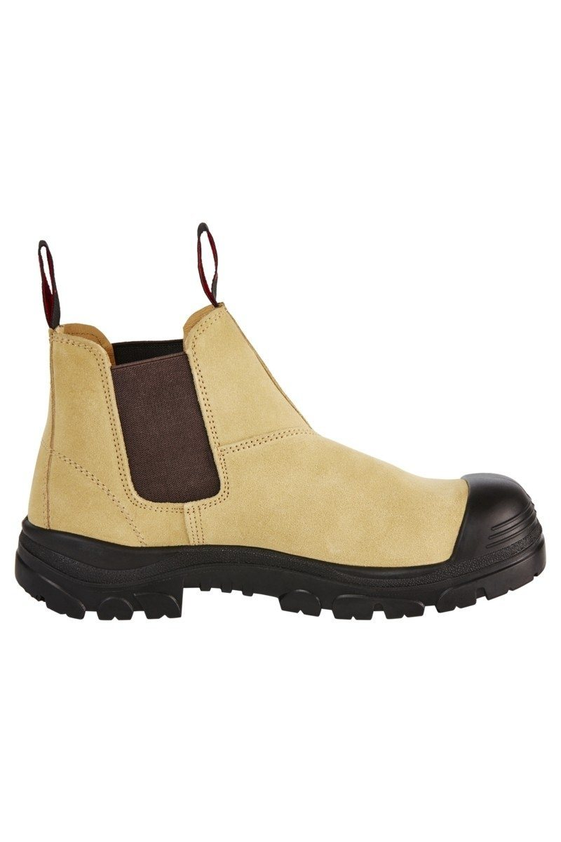 Hard Yakka Grit Suede Pull Up Boot - Sand