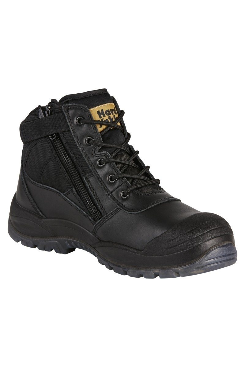 Hard Yakka Utility Side Zip Boot - Black Workwear Hard Yakka