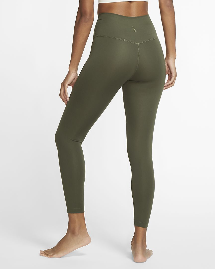 Nike Womens Yoga 7/8 Tights - Cargo Khaki/Medium Olive SP-ApparelTights-Womens Nike