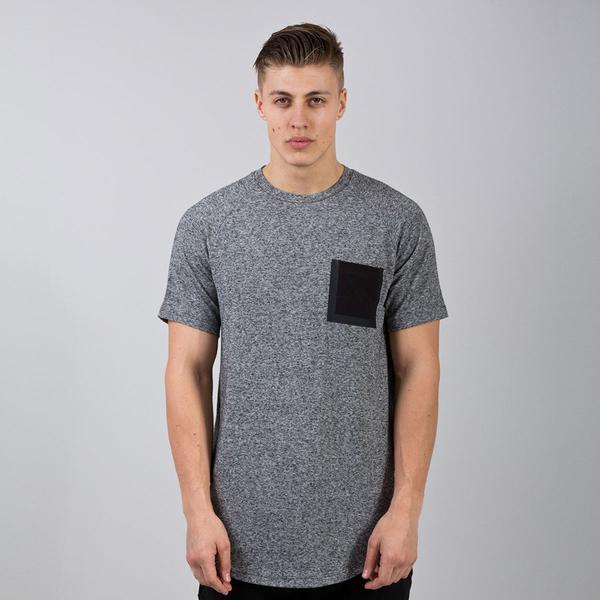 KING APPAREL STERLING POCKET T-SHIRT - HEATHER GREY