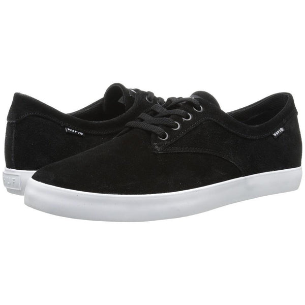 HUF SMU SUTTER SKATE SHOES - BLACK/WHITE
