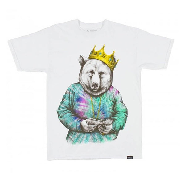 ROOK BIGGIE BEAR T-SHIRT - WHITE