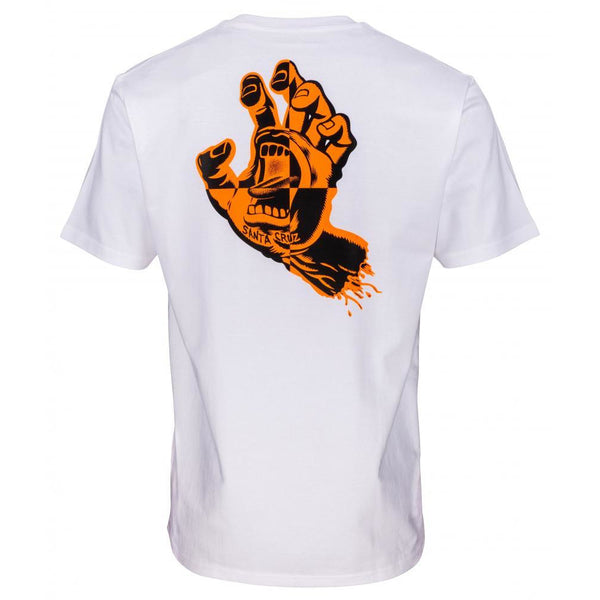 SANTA CRUZ CRASH HAND T-SHIRT - WHITE
