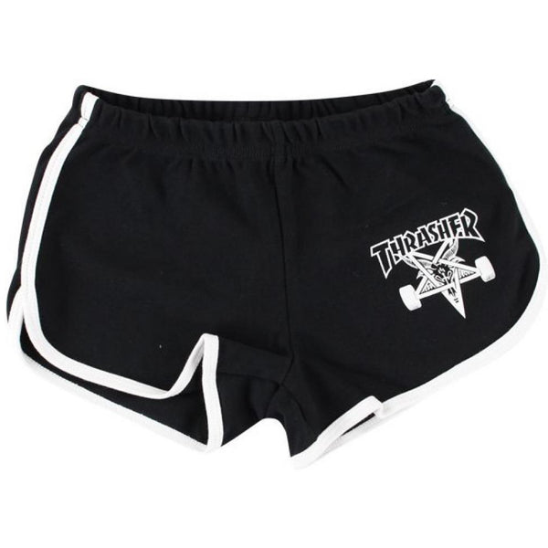 THRASHER SKATEGOAT GIRLS NIGHT SHORTS - BLACK