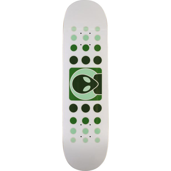 ALIEN WORKSHOP DOT FADE SKATEBOARD DECK WHITE/GREEN  - 8.375""
