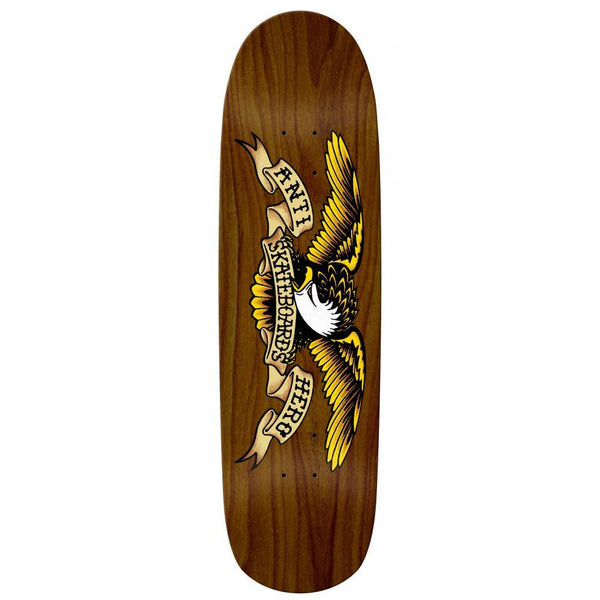 ANTI HERO OVERSPRAY BOMBER SKATEBOARD DECK BROWN - 8.86""