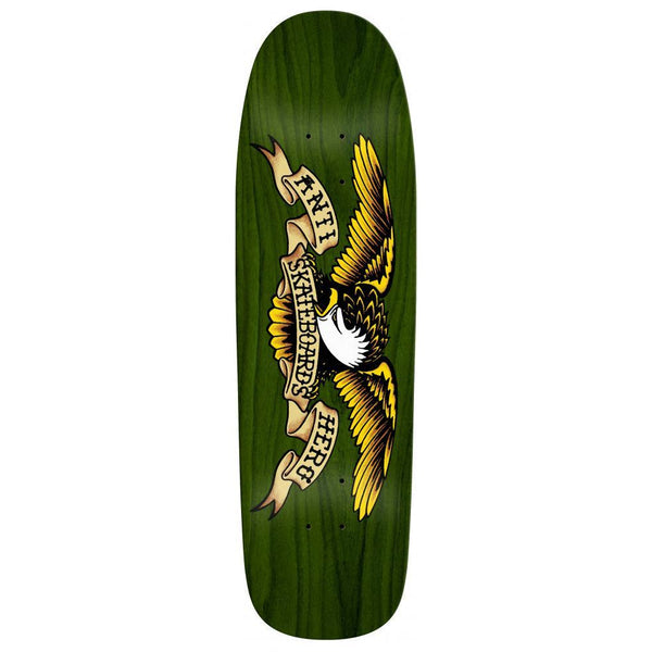 ANTI HERO OVERSPRAY SHAPED EAGLE GREEN GIANT SKATEBOARD DECK - 9.56""