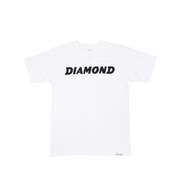DIAMOND SUPPLY CO PAINTED T-SHIRT - WHITE