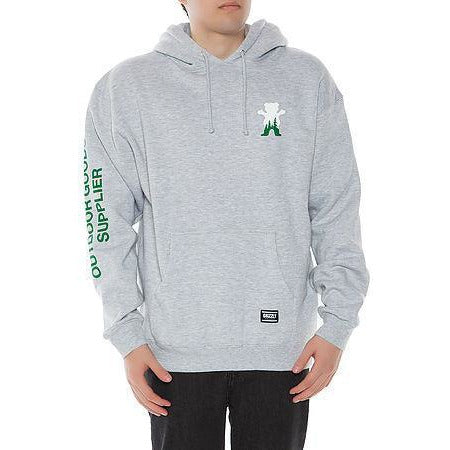 GRIZZLY OUTDOOR SUPPLIERS HOODIE - HEATHER GREY