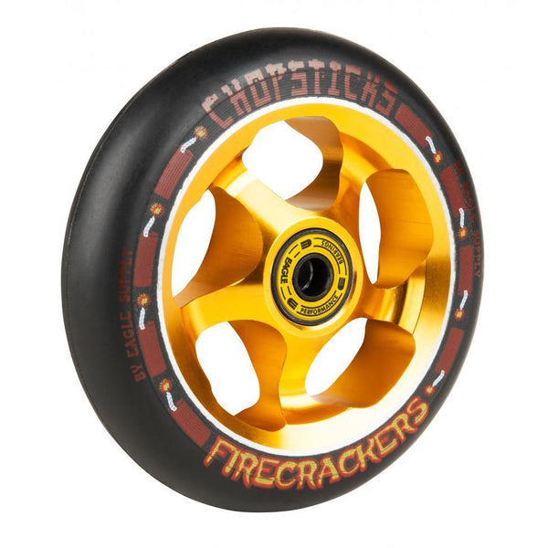 CHOPSTICKS FIRECRACKERS SCOOTER WHEEL BLACK - 110MM