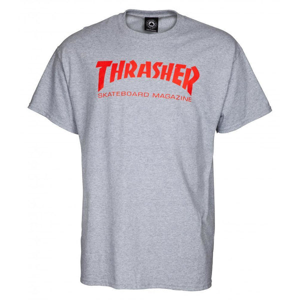 THRASHER SKATE MAG T-SHIRT - GREY/RED